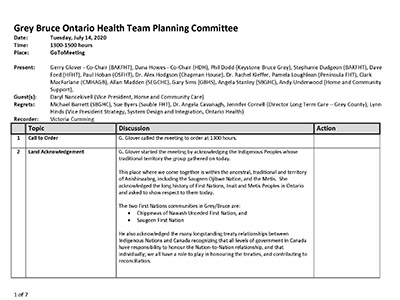 GB OHT Planning Committee - Minutes - July 14, 2020 - Approved_Page_1