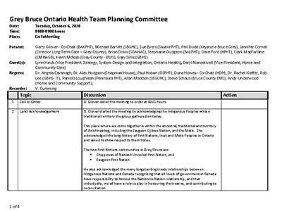 GB OHT Planning Committee - Minutes -October 6, 2020 - Approved_Page_1